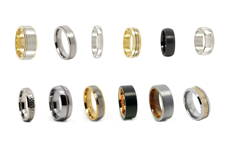 different metals materials for men wedding rings