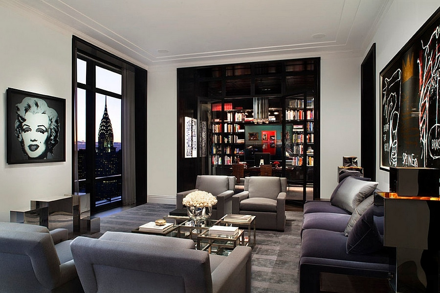 masculine new york living room ideas