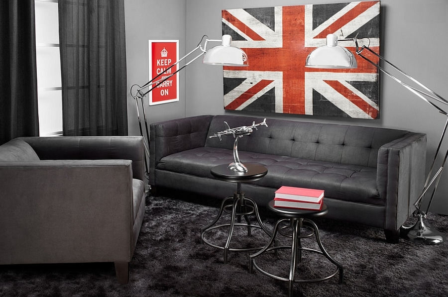 masculine bachelor living room decorating ideas