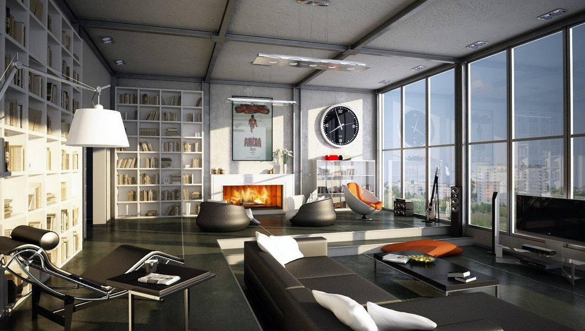 masculine living room design