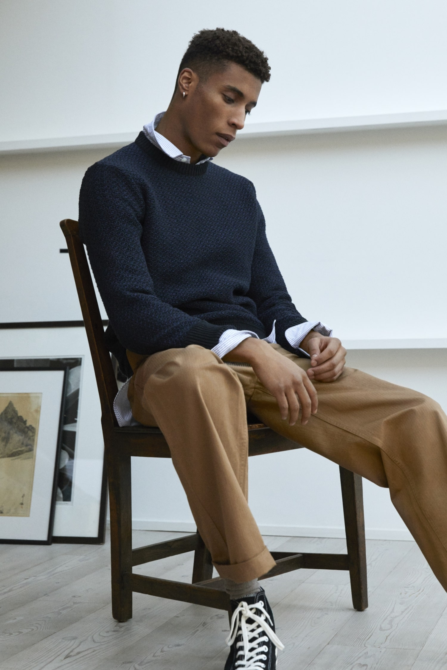olie arnold mr p black sweater