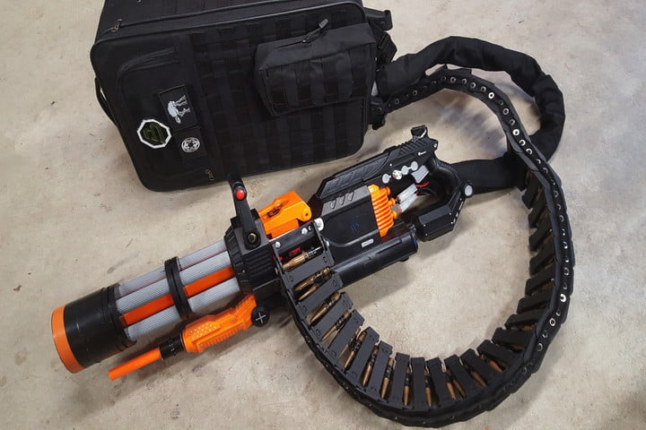 how to mod the ultimate nerf rival minigun man of many. Black Bedroom Furniture Sets. Home Design Ideas