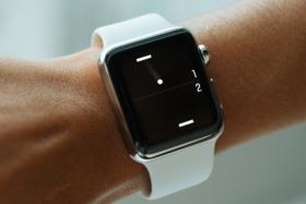 apple watch wearing in hand