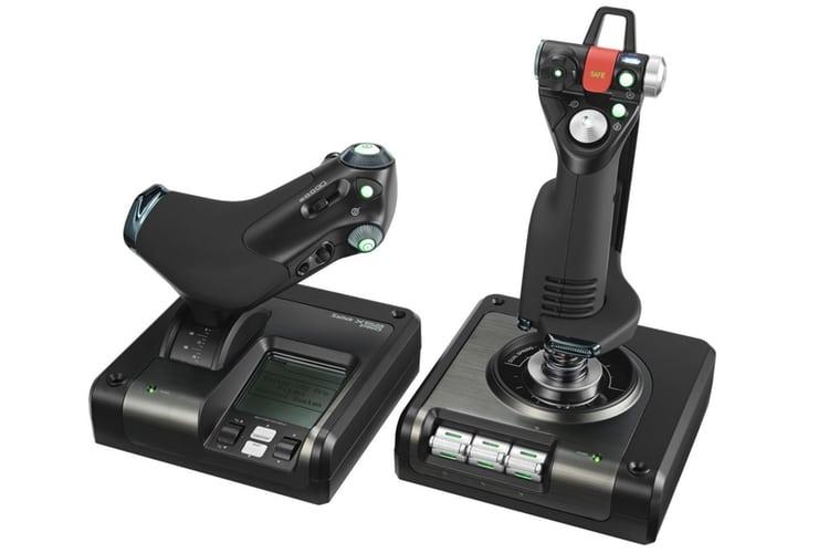 logitech g saitek x52 pro flight joystick