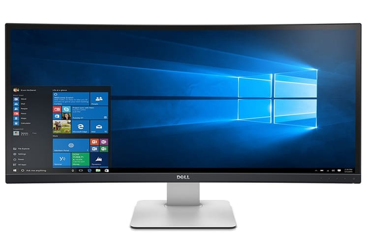 dell ultrasharp u3415w curved led-lit monitor