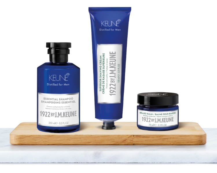 jm keune shampoo shaving cream and beard balm