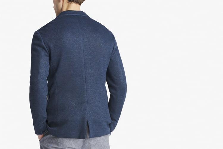 back of centre vent suit