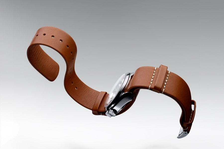 nato watch strap leather