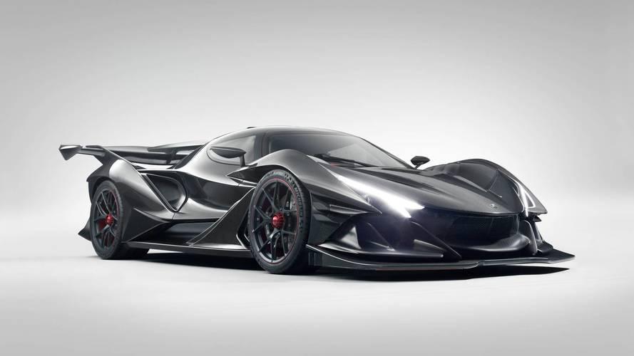 black color hypercar