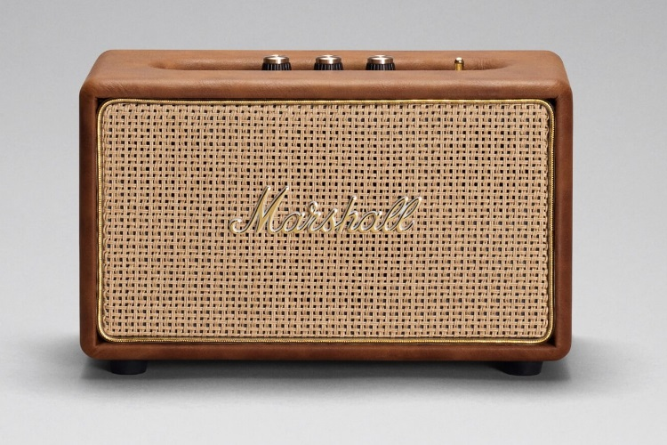 marshall acton tawny speaker small and luxury frame