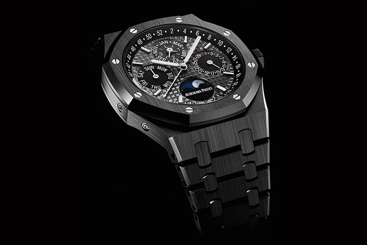 black color audemars piguet watch
