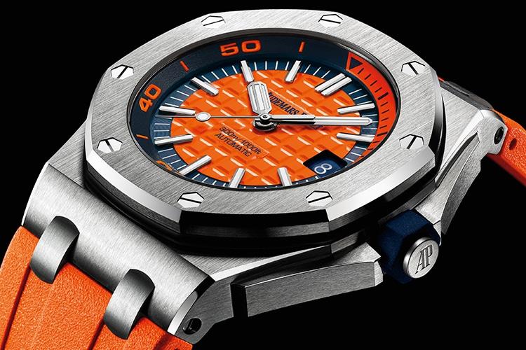 audemars piguet watch silver color