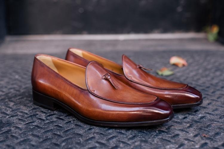 brown colour paul evans shoe