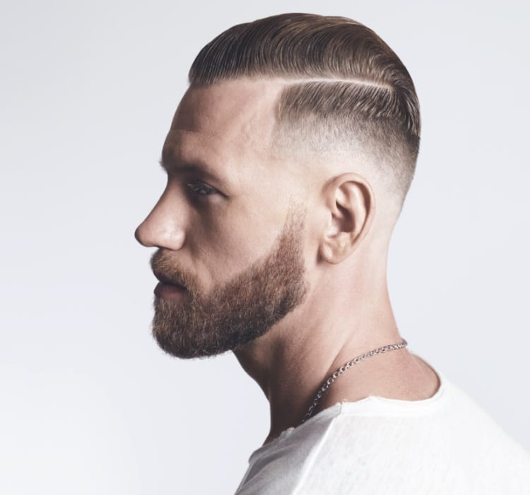Redken Brews hairstyle and beard side view