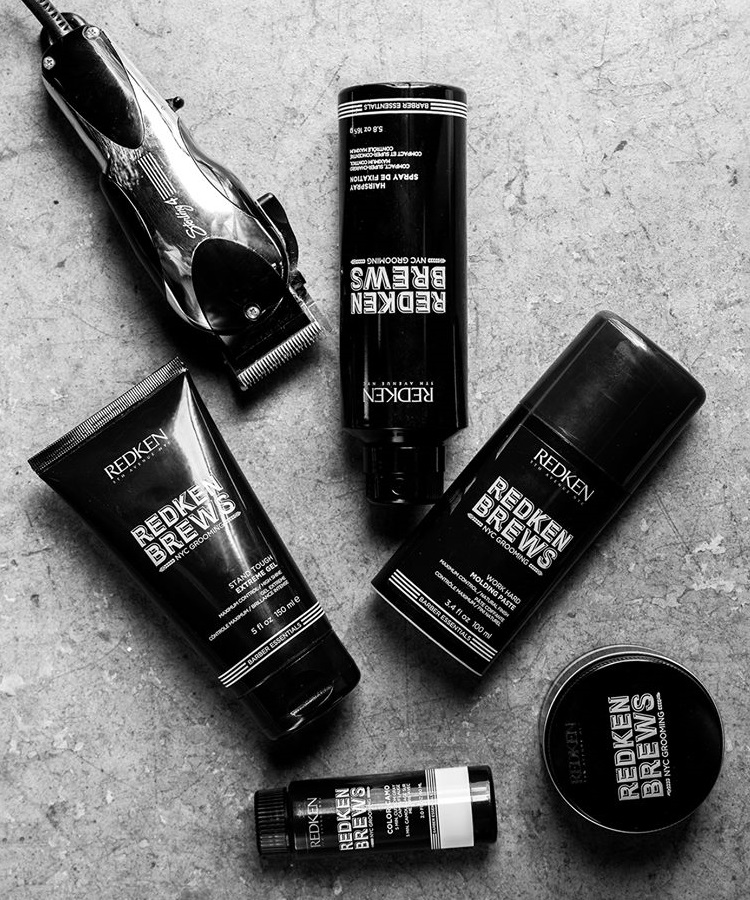 Redken Brews haircare and skincare products
