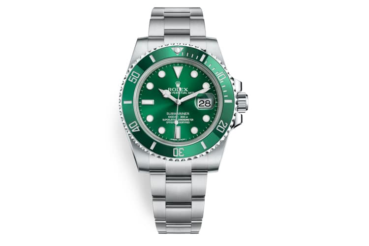 rolex hulk watch green color