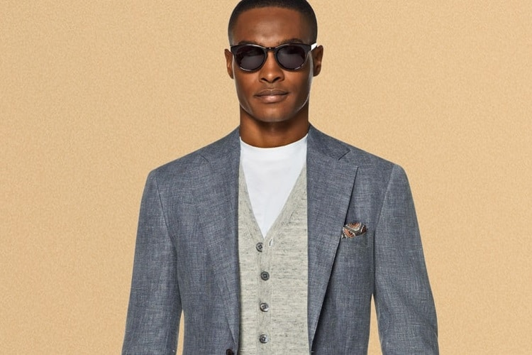 nish de gruiter suit high end fabric
