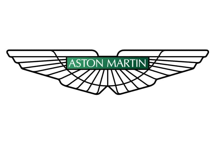 aston martin car emblem with wings