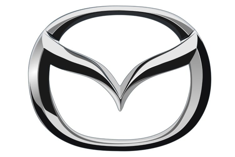 mazda car emblem with wings