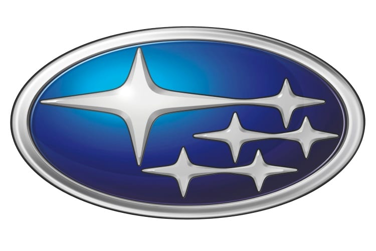 subaru car emblem with stars