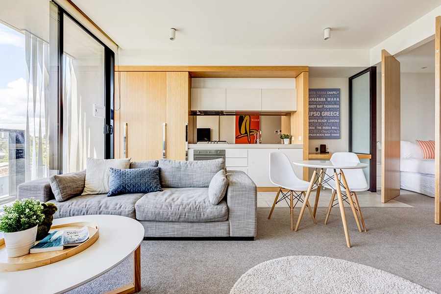 contemporary south yarra space with balcony views