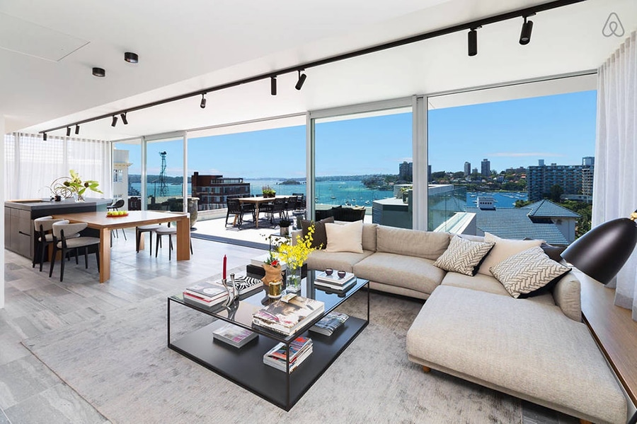 stunning harbour front home with elizabeth bay