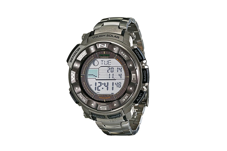 casio men prw2500t tough solar silver