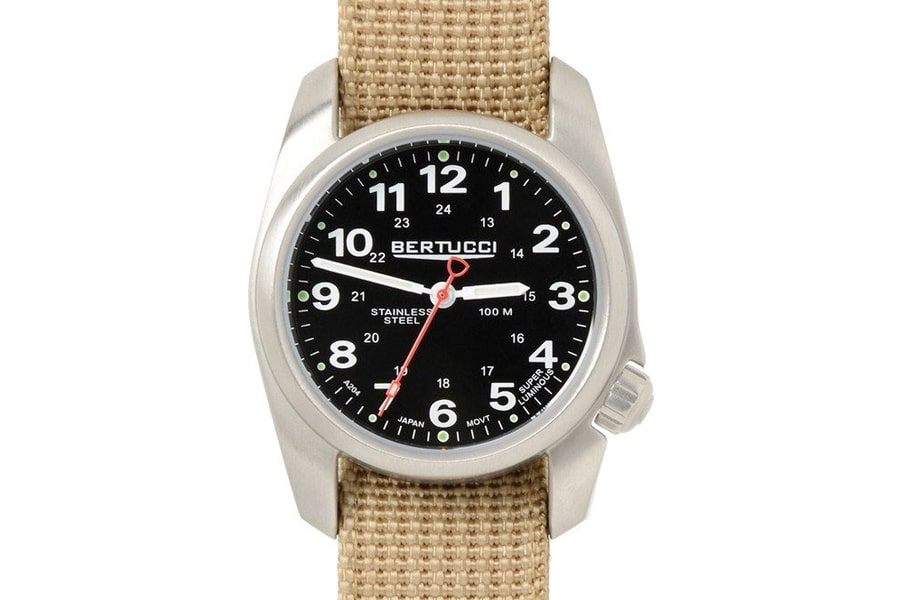 stainless steel quartz bertucci a 2s field watch