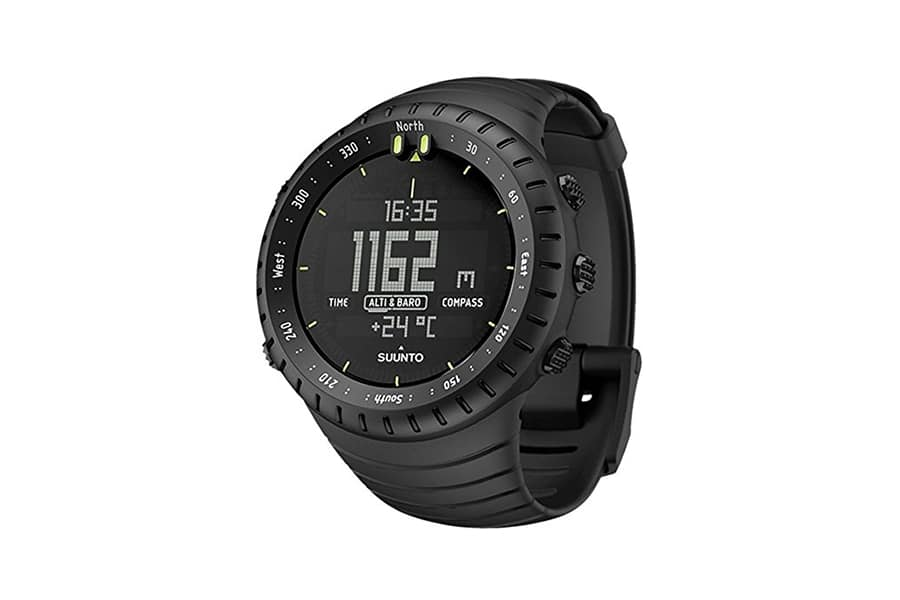 large face black suunto core watch
