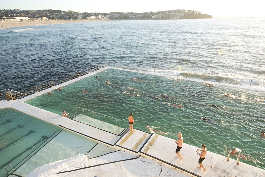 icebergs overlooking bondi pool