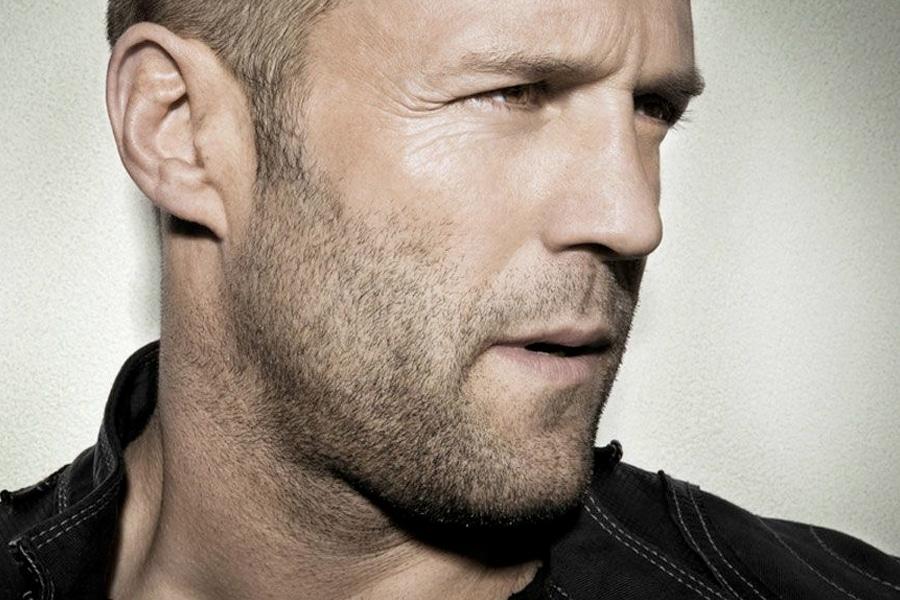 Shadow beard (stubble) on Jason Statham