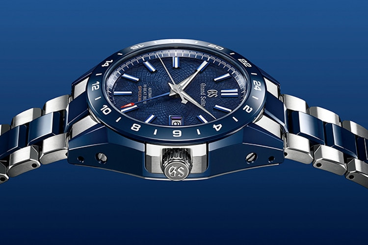 grand seiko blue ceramic hi beat gmt