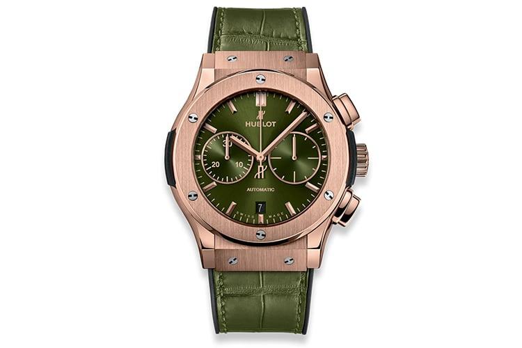 hublot orlinski chronograph king green gold classic fusion