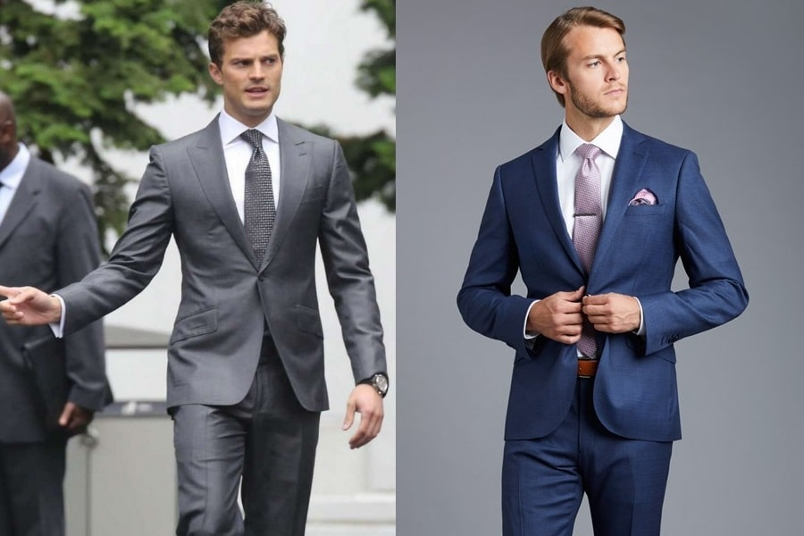 lounge suit dress code wear gray and blue