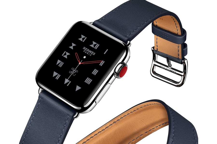 apple watch with hermès leather bands