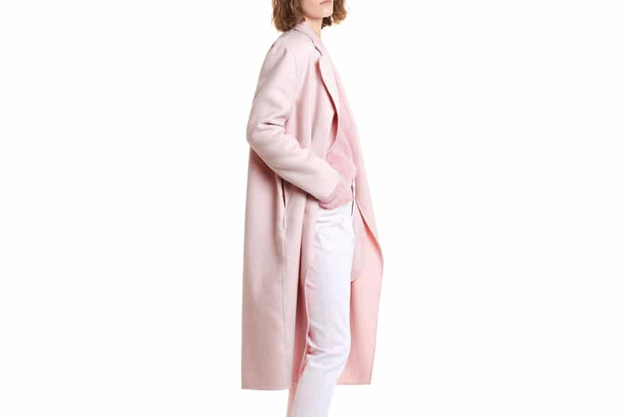 country road double face wool coat