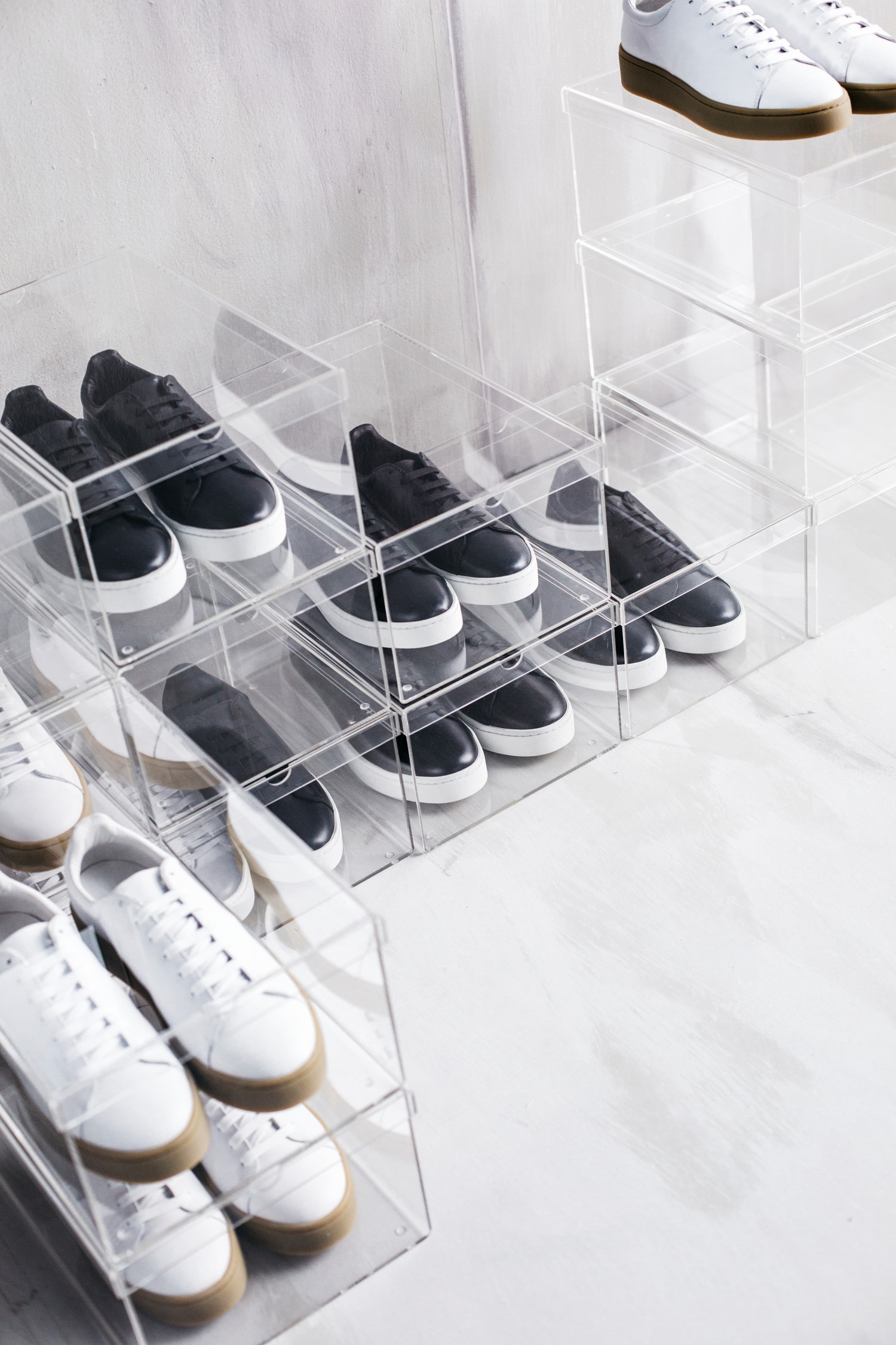 sneakers in the ikea spanst case