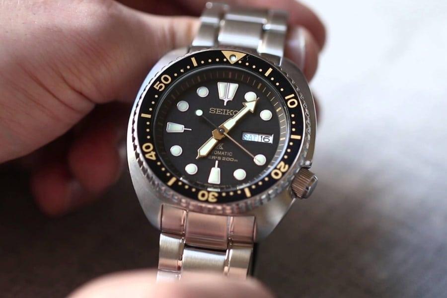 seiko turtle prospex diver watch