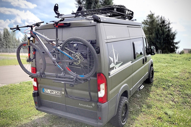 cycle on the westfalia offroad camper car