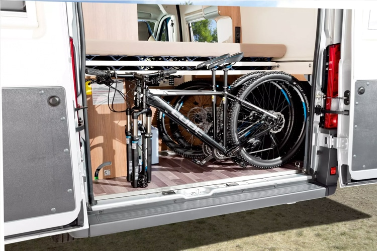 westfalia offroad camper inside cycle box