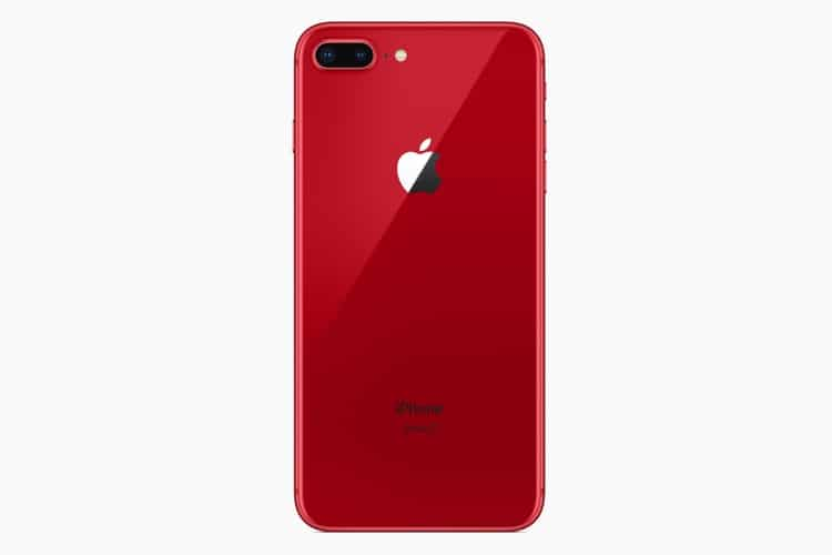 red iphone8 and iphone8 plus back side