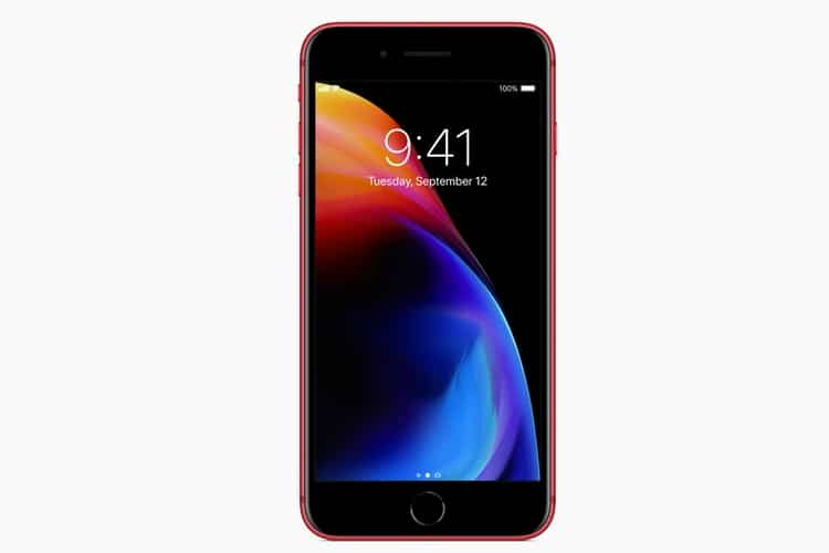 red iphone8 and iphone8 plus glass exterior