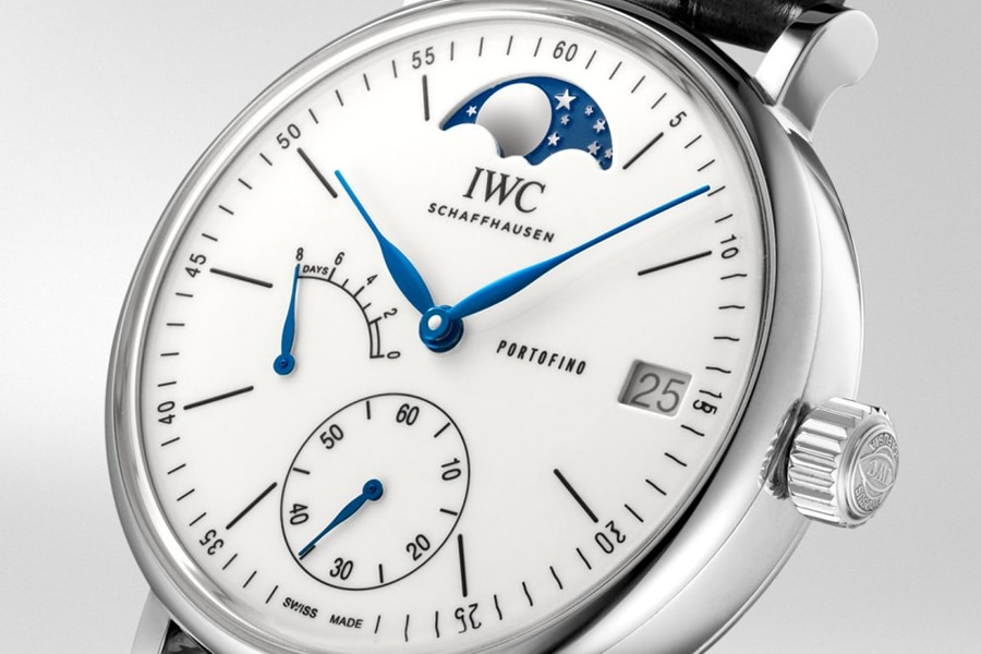 white color moonphase watch
