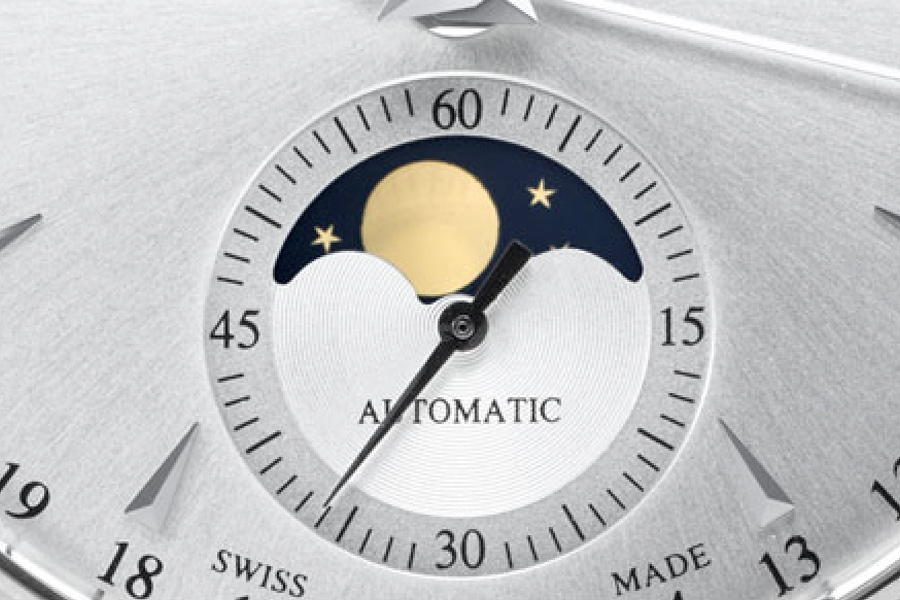 moonphase watch one hands