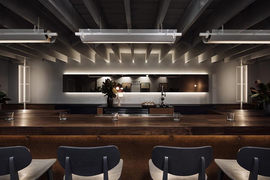 melbourne interior above board table