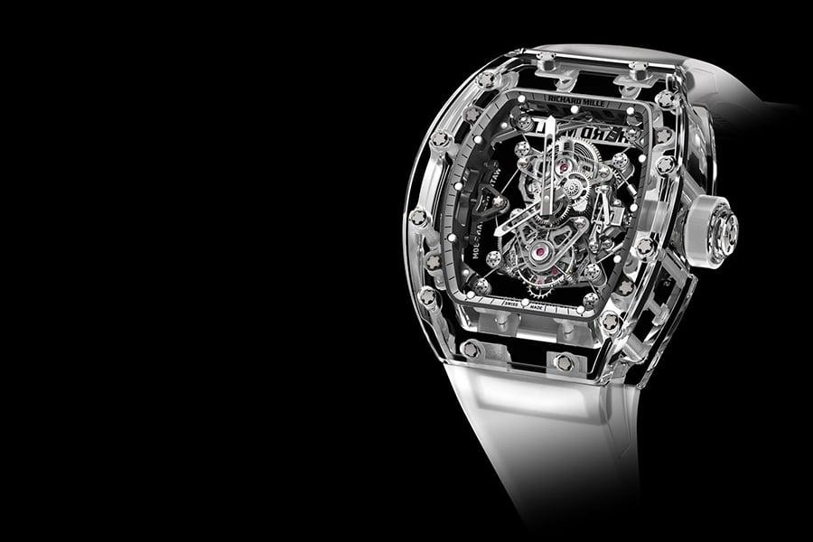 richard mille rm sapphire tourbillon clockwork