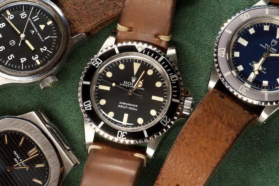 rolex watch brown leather strap