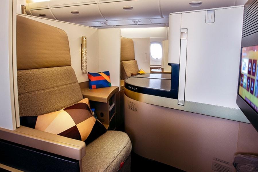 etihad a380 business class amenities