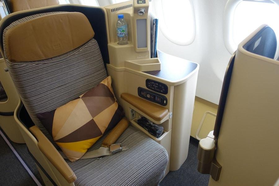 etihad a380 business class seat