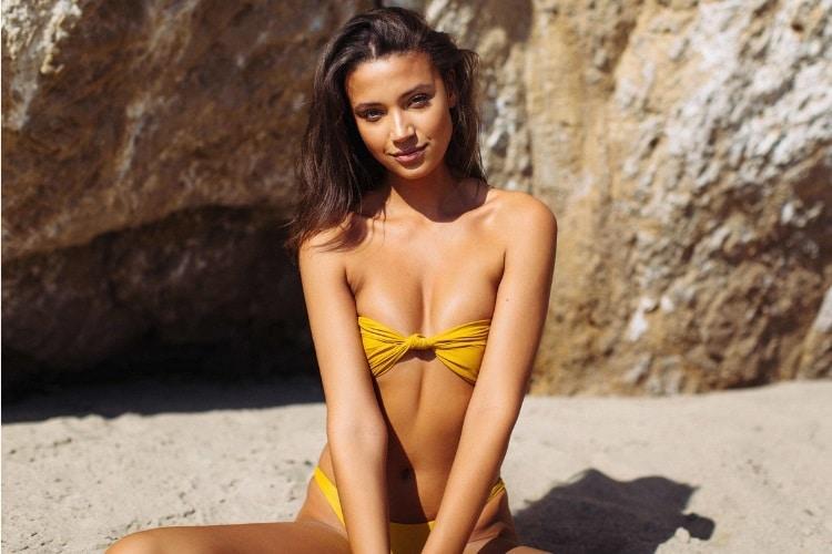 candice blackburn yellow color bra